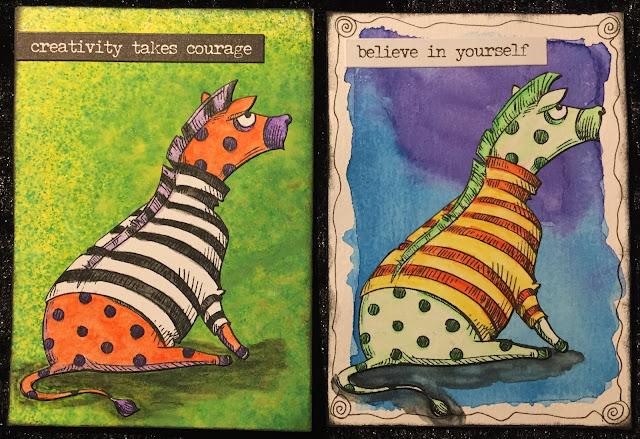 Zebra ATC (Artist Trading Card)
