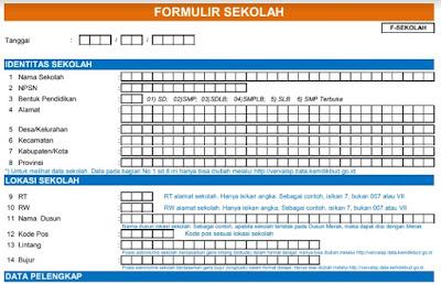 Download Formulir Dapodik Excel F-Sekolah, F-PTK-GTK, F-Sarpras, Rombel, Jadwal Pembelajaran, Peserta Didik SD/SMP/SMA/SMK Tahun Pelajaran 2017/2018 Semester 2 (Patch 1.0 Dapodik Versi 2018b)