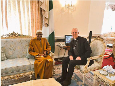 Archbishop of Canterbury, President Buhari, Nigeria house in london, News, Justin Welby