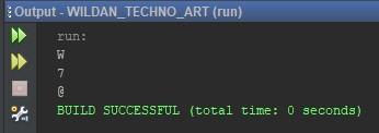 Penggunaan Tipe Data Char pada Java