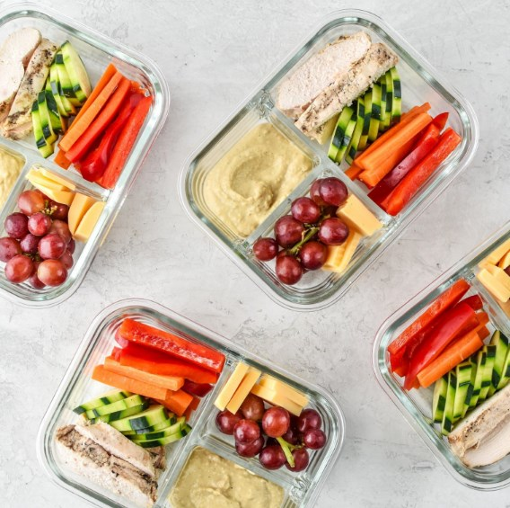 CHICKEN & HUMMUS PLATE LUNCH MEAL PREP #simplemeal #meals