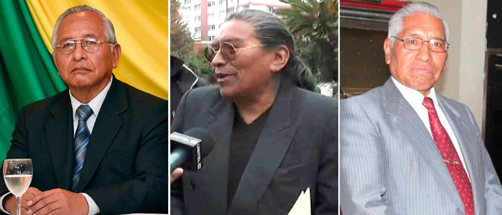Cárdenas, Untoja y Tapia representan al katarismo en sus distintas alas desde los años 70s / WEB MONTAJE