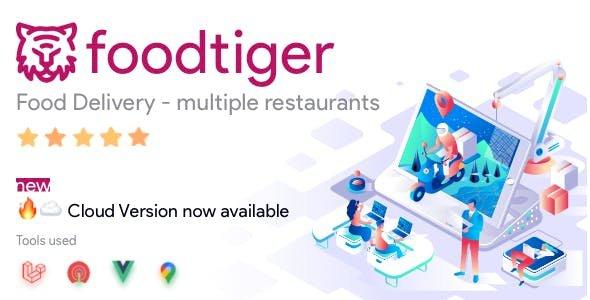 FoodTiger v1.4.0 - Food delivery - Multiple Restaurants
