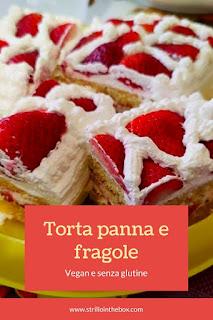 torta panna e fragole gluten-free