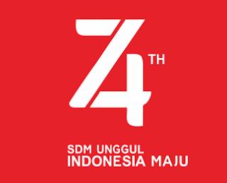 download file vector corel logo HUT 74 Indonesia