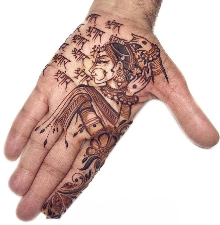 Ladies Special Mehndi Design for Front Hand