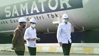Tinjau Pabrik Oksigen, Presiden Ingin Pastikan Kebutuhan Oksigen Medis Nasional Tercukupi