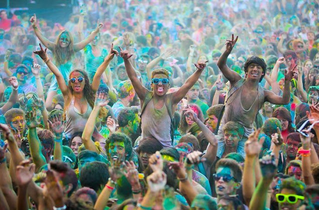 7. Dragon of the Sea, beach of the future, Holi party