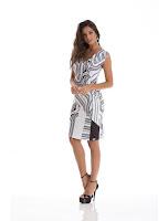 Loja Recco Vestido Wrap de neoprene