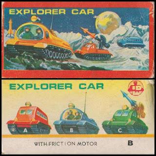 404; 404A; 404B; 404C; Astronauts; Bulldozer; Delamare; Dozer Blade; Explorer Car; Lik Be; Lik Be Explorer Cars; Lik Be LB; Lik Be LP; Lik Be Space Tanks; LP Astronaughts; LP Lik Be; Lunar Exploration; Missile Launcher; No. 704; Prod No. 7536; Reconnaissance Car; Reconnaissance Vehicle; Rocket Launcher; Self-Propelled Missiles; Self-Propelled Rocket; Small Scale World; smallscaleworld.blogspot.com; Space Bulldozer; Spacemen; This Is A Toy; Troop Carrier;