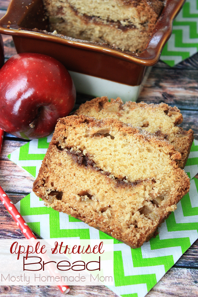 Apple Streusel Apple Bread