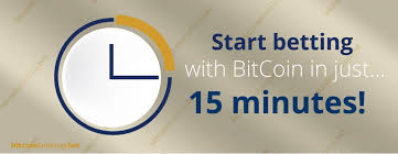 How to bet with Bitcoin in 15 minutes