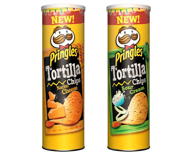 Новая линейка кукурузных чипсов Pringles «Tortilla», Новая линейка кукурузных чипсов Принглс «Tortilla», Pringles «Tortilla El Nacho Cheese» Pringles «Tortilla Sour Cream Fiest» состав цена стоимость вес упаковка пищевая ценность Россия 2017