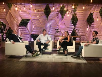 Erick Jacquin e os ex-participantes Rafael, Maria Antonia e Willian - Divulgação/Band