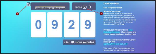 cara email 10 menit sekali pakai