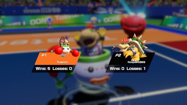 Mario Tennis Aces Bowser Jr. Toaster! wins North America