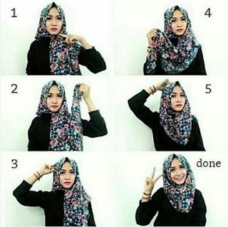 Model Jilbab Segi Empat Terbaru dan Cara Memakainya