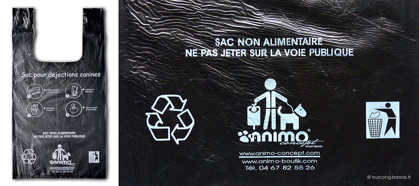 Sac pour déjections canines animo concept