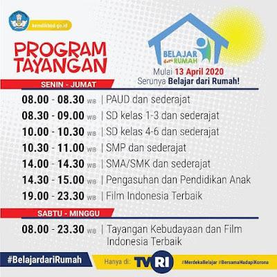 program Belajar dari Rumah TVRI