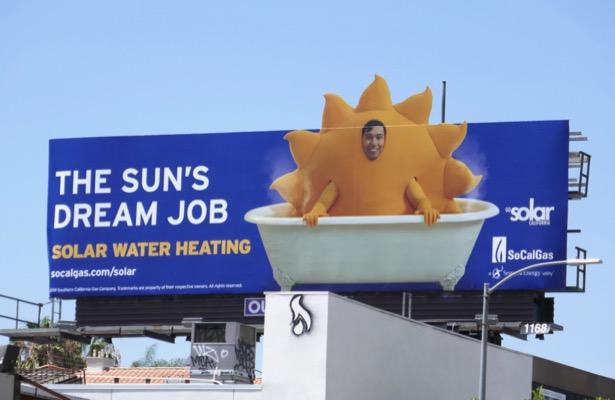 Suns dream job Solar Water Heating billboard