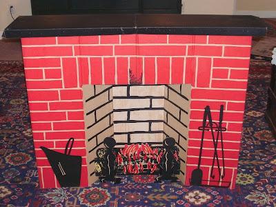 Cardboard Christmas Fireplace.Christmas Shopaholic Cardboard Holiday Fireplace Decorations