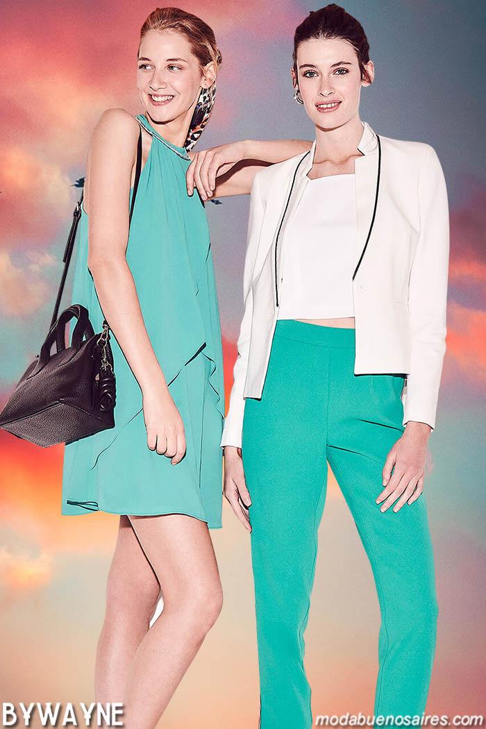 Vestidos, pantalones y chaquetas primavera verano 2020 moda noche y fiestas mujer.