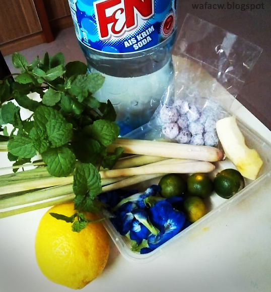 bahan-bahan untuk buat air detox soda