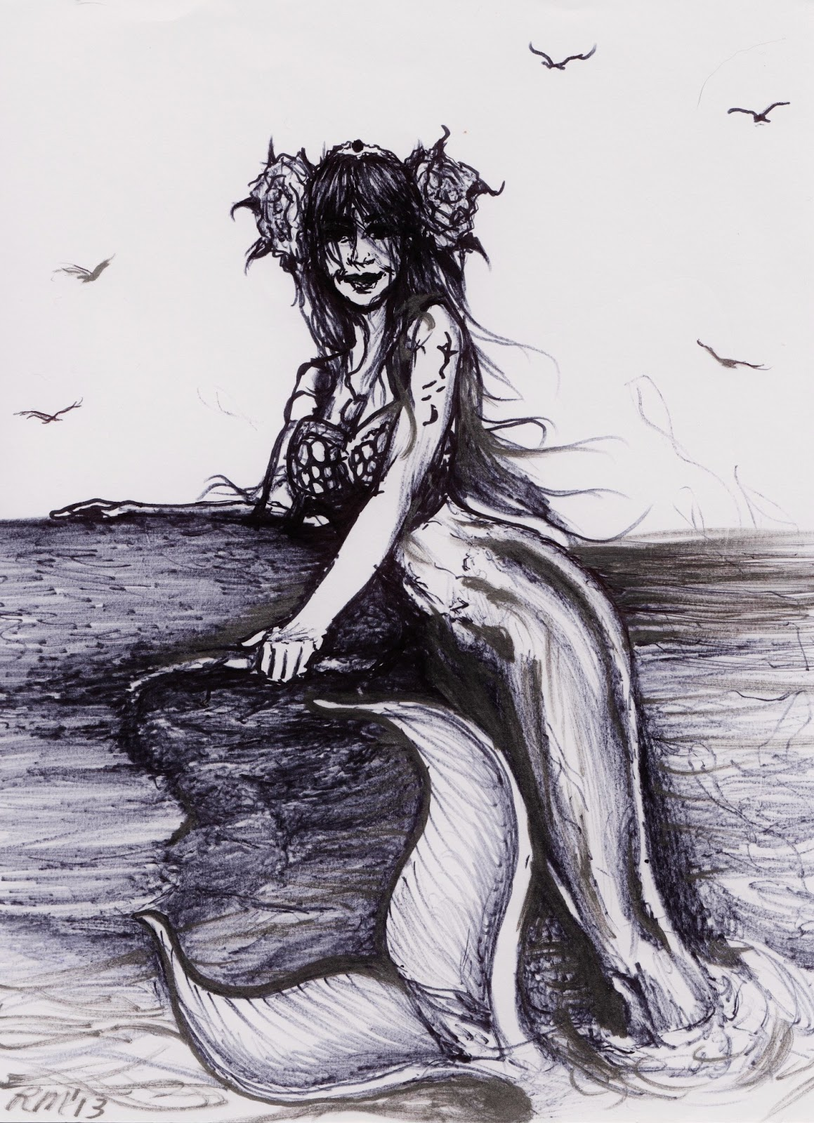Alternate Visions: I Has a New Mermaid Drawing! :D