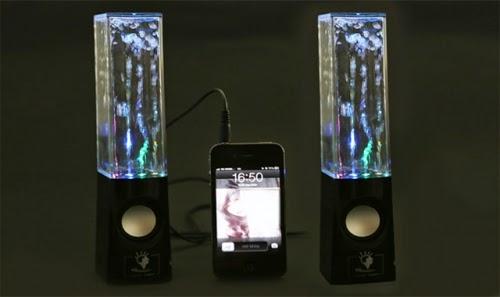 Loa phun nước phát nhạc qua điện thoại