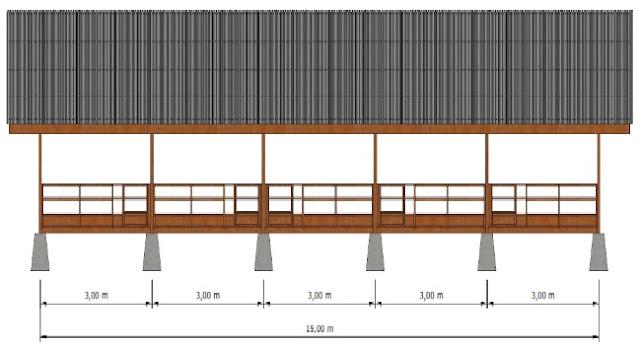Desain Gambar Kandang Kambing Domba Modern Tampak Samping Madani Farm