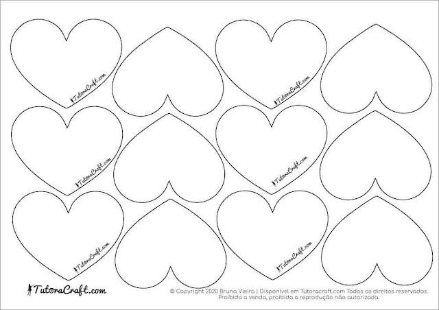 Moldes de coração 6 cm
