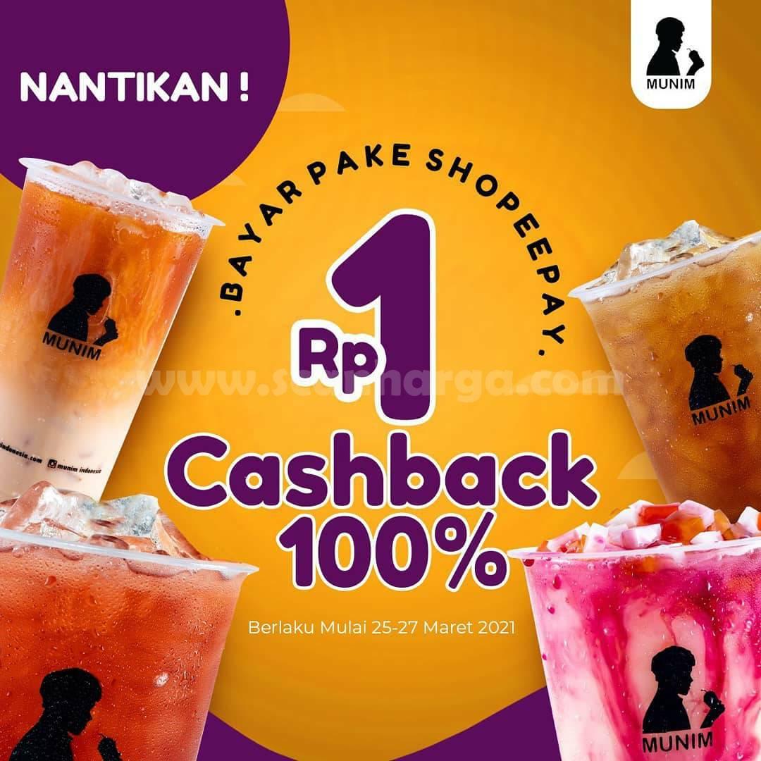 Promo MUNIM Voucher Deals CASHBACK 100% ShopeePay hanya Rp. 1,-