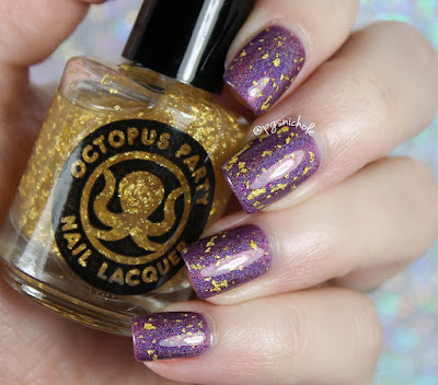Octopus Party Nail Lacquer Peace & Karats (over Justice) | OPNL ♥ GLL Mardi Gras 2017