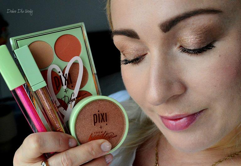 PixiPretties - Paleta do oczu, puder rozświetlający, cień brokatowy w płynie i lakier do ust