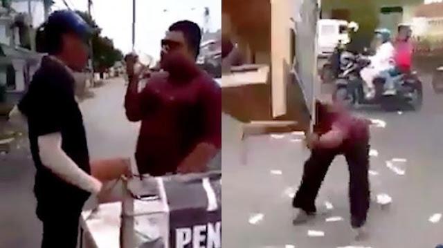 Videonya saat Ngamuk Viral, Pria yang Obrak-abrik Lapak Jasa Penukaran Uang Meminta Maaf