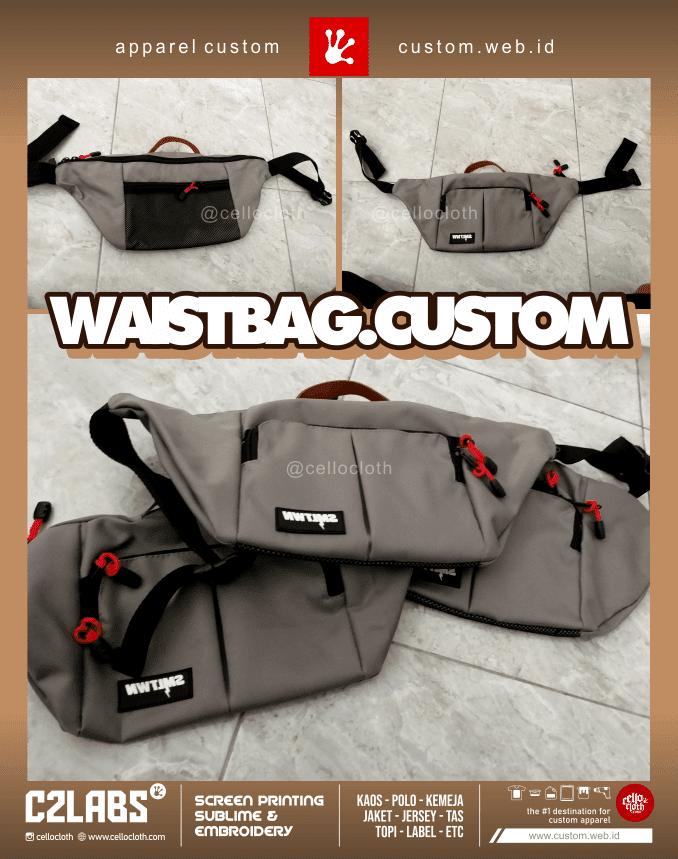Waistbag Custom Bordir or Label Karet Custom - Konveksi Tas