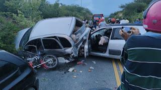 Acidente envolvendo dois veículos e uma moto na entrada de Picuí nesta sexta (03)