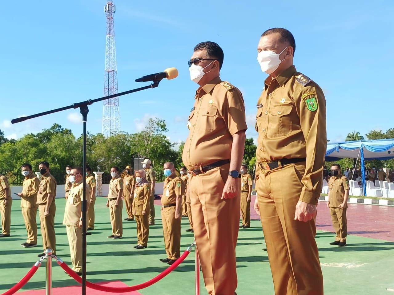 Bupati Natuna Pimpin Apel Sosialisasi Vaksinasi Covid-19