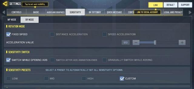 كيفية اختيار أفضل إعدادات حساسية COD Mobile