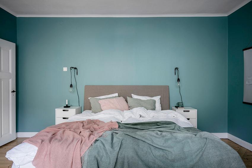pintura paredes azul para dormitorio