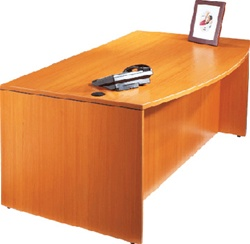 Bow Front Executive Desk