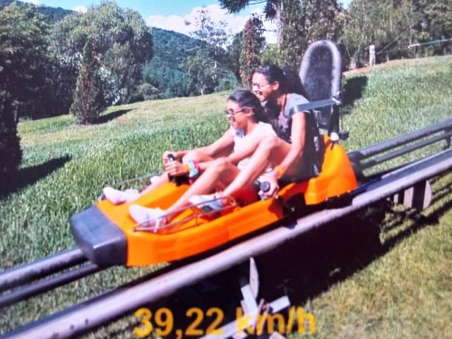Trenó do Alpen Park, Marta e Maria, máe e filha se divertindo