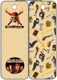 Pirates of the Caribbean Free Printable Bookmarks.