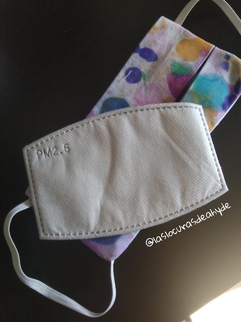 filtro pm2.5 y mascarilla de tela de algodon 100%