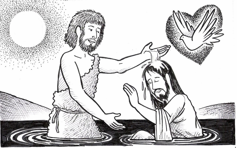 El Renuevo De Jehova: Bautismo de Jesus - Imagenes para colorear ...