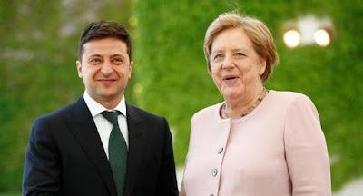 """Зеленський обговорив з Меркель подовження санкцій проти РФ і переговори у """"нормандському форматі"""""""