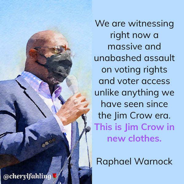 We are witnessing right now a massive and unabashed assault on voting rights and voter access unlike anything we have seen since the Jim Crow era. This is Jim Crow in new clothes. — Sen. Raphael Warnock (D-Georgia)