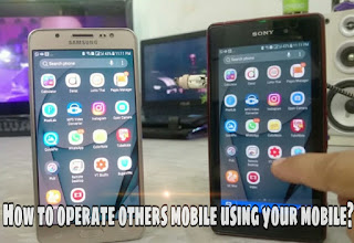 Operate one phone using another