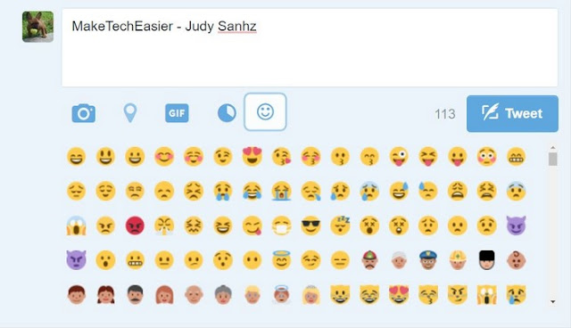 Add-emoticons-to-Twitter-Tweets