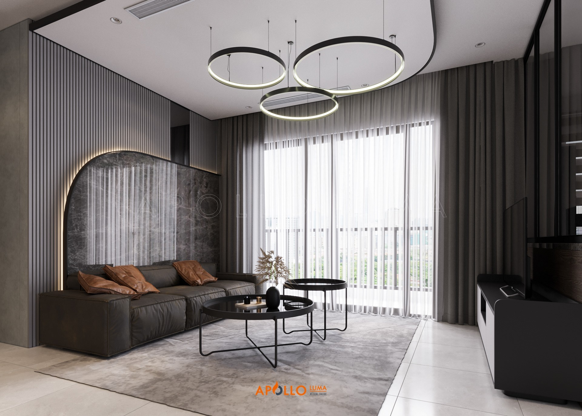 Thiết kế nội thất căn 3PN (80m2) S3.03-15A Vinhomes Smart City Tây Mỗ